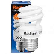 Radium Energiesparlampe, RALUX SPIN RXE-SP, E27/15W, 900Lm, 2700K, L 106, Ø 41