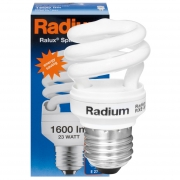 Radium Energiesparlampe, RALUX SPIN RXE-SP, E27/23W, 1600Lm, 2700K, L 119, Ø 54