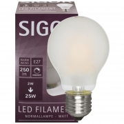 Sigor LED-Filament-Lampe, AGL-Form, matt, E27