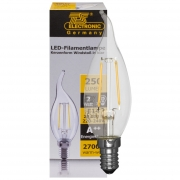 Ts Electronic LED-Filament-Lampe, Windstoß, klar, E14