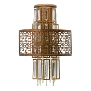 Wandleuchte Loft von MW-Light copper brown, Metall transparent, crystal 2x40W E14 2700K